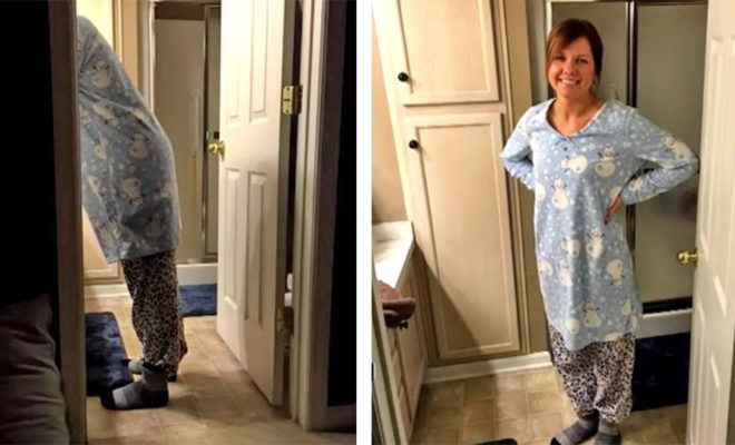 fb9a8cbb243c Husband Snaps Photo Of Wife In Pajamas